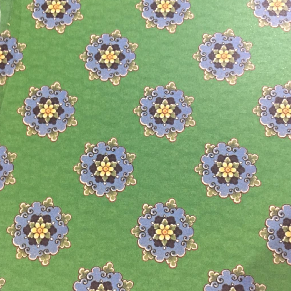 A4 Crafthouse Press Oriental Flowers - Green